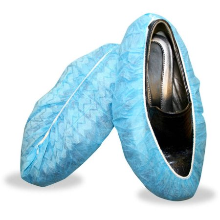 Blue Polypropylene Non-Skid Shoe Covers (400 Pair/Case) ()
