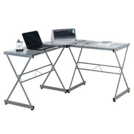 techni mobili l shaped glass computer desk. Black Bedroom Furniture Sets. Home Design Ideas