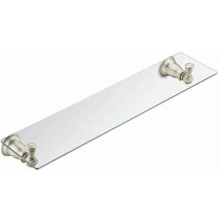 Moen CSI Kingsley Glass Shelf, Available in Various (Brushed Shelf)