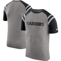 Product Image Oakland Raiders Nike Enzyme Shoulder Stripe Raglan T-Shirt -  Heathered Gray 759274bb5