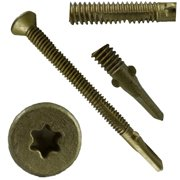"#14x2-3/4"" Reamer Tek Torx/Star Head Self-Drilling Wood to Metal Screws - 1 Pound (~34 Tek Screws) - Tek Screws for Flatbeds, Trailers, or where Fastening Wood to Steel - T-25 Torx Screw Head"