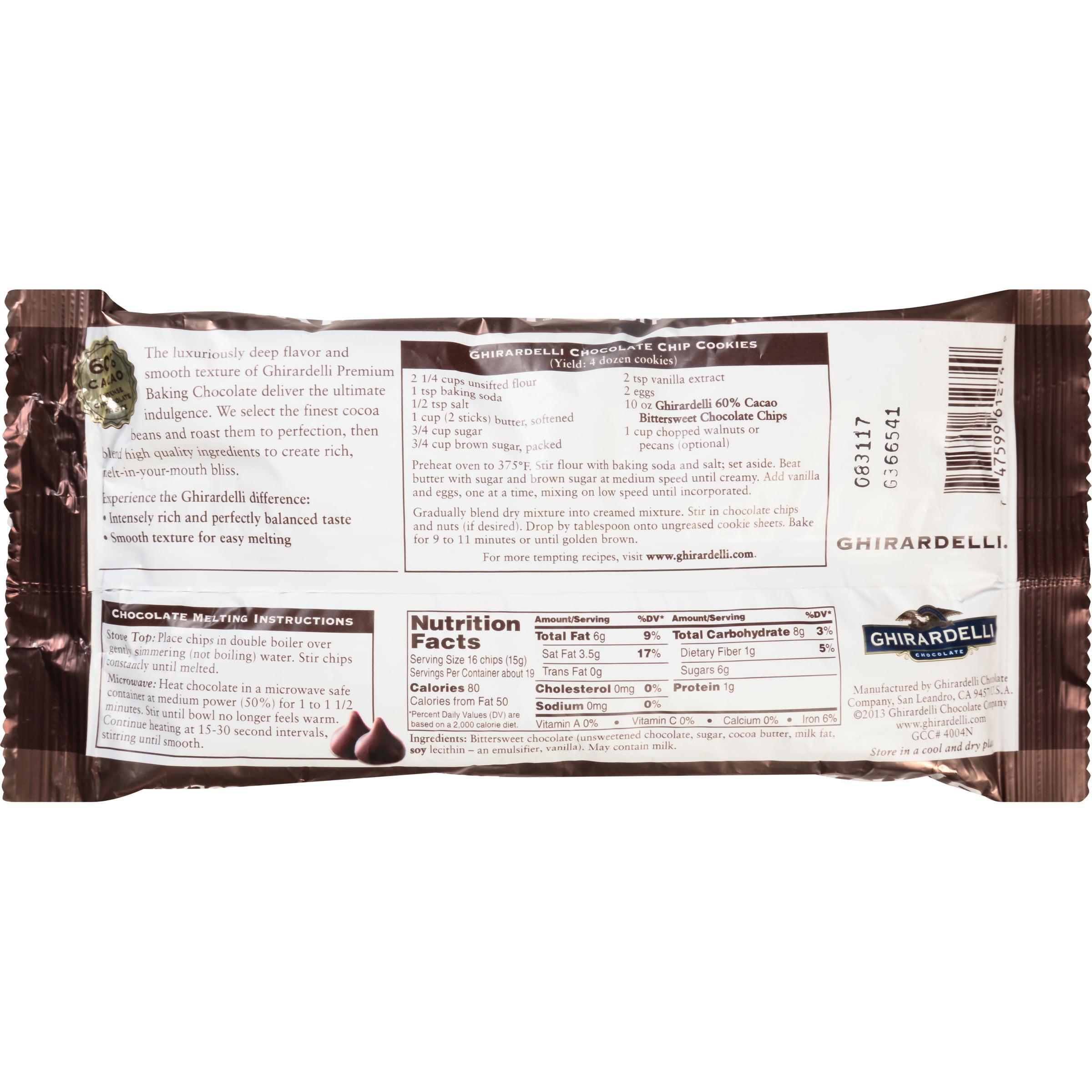 Ghirardelli Chocolate Premium Baking Chips 60% Cacao Bittersweet ...