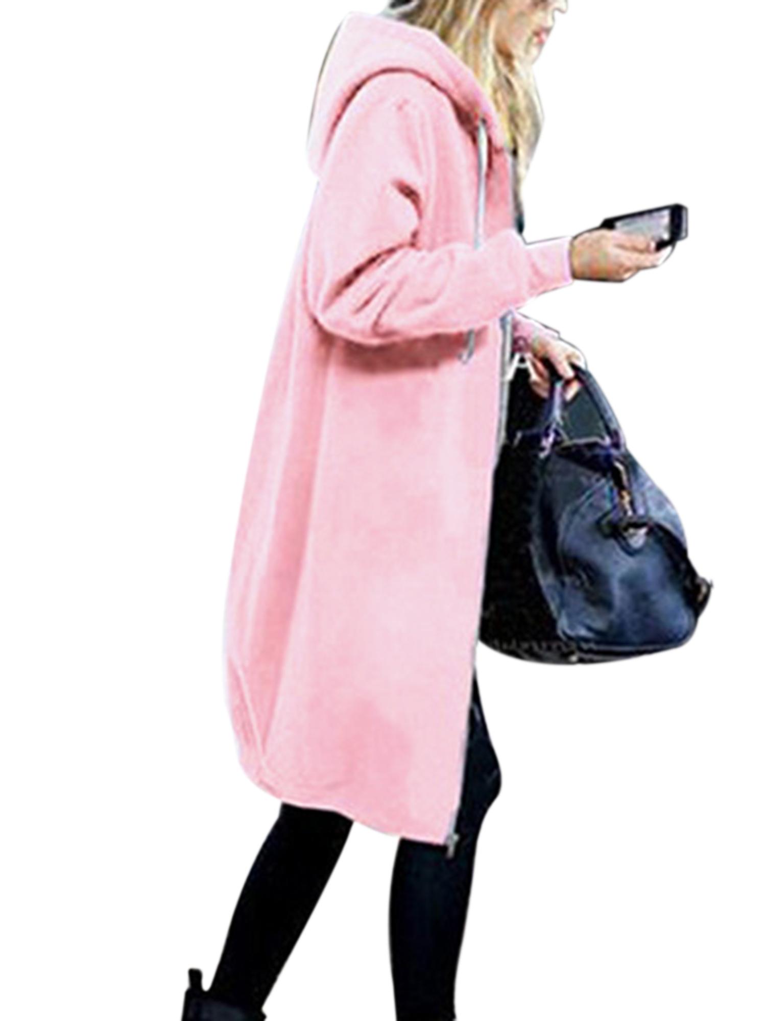 Women Long Sleeve Hooded Hoodie Jacket Cardigan Coat Jumper Outwear Plus Size
