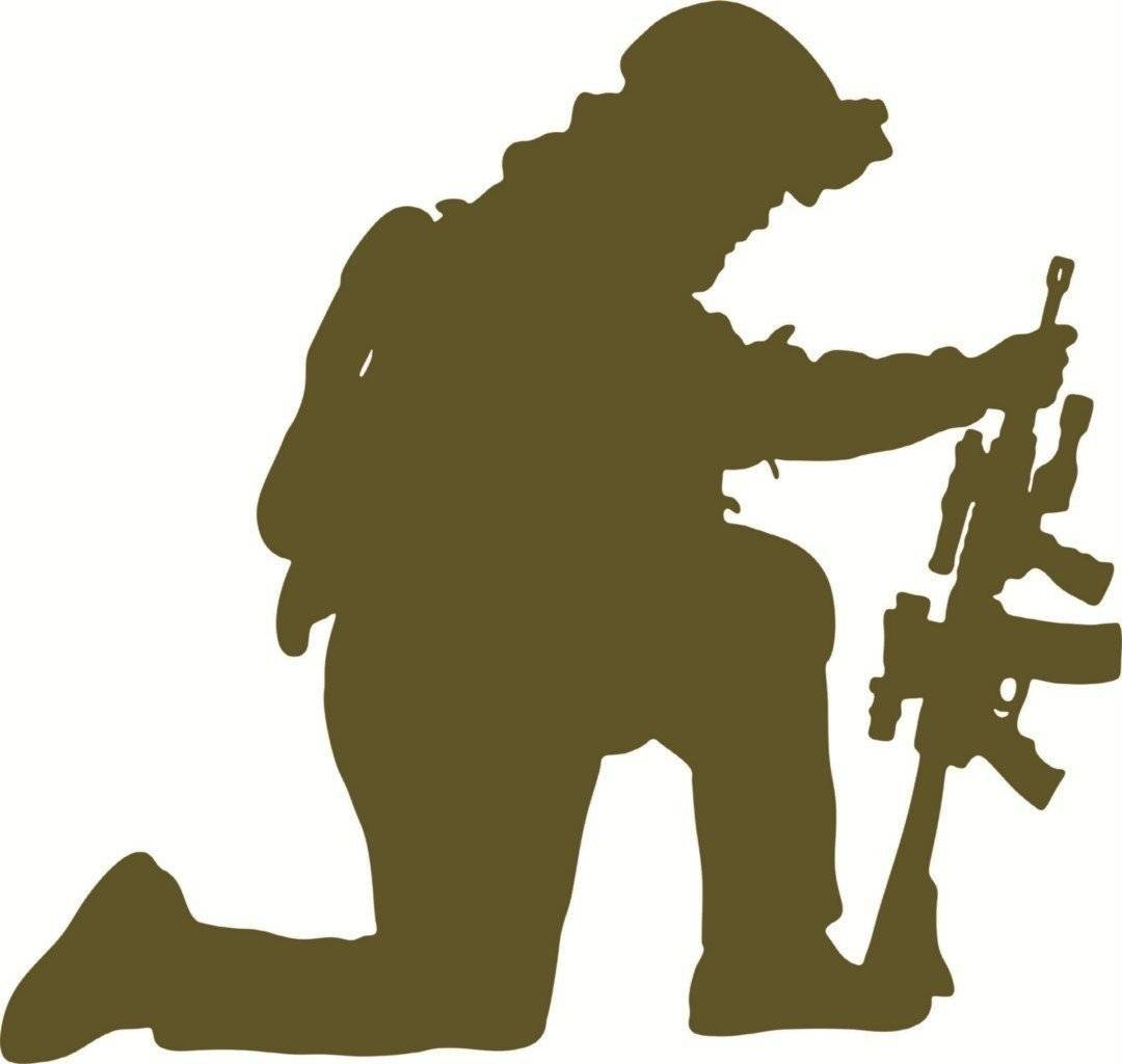 """New Wall Ideas Army Navy Military Soldier With Gun Boys Mens 17x17"""""""