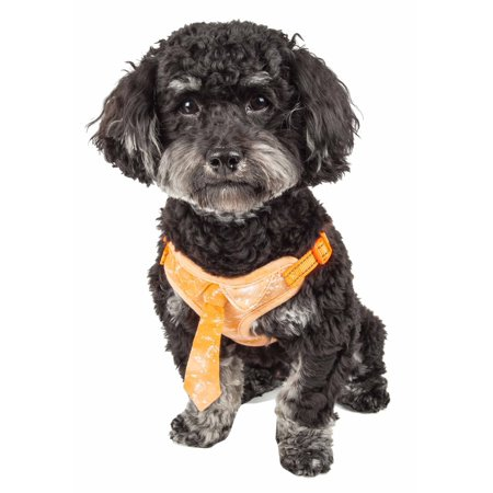 Harness Neck - Pet Life ® 'Bonatied' Mesh Reversible And Breathable Adjustable Dog Harness W/ Designer Neck Tie