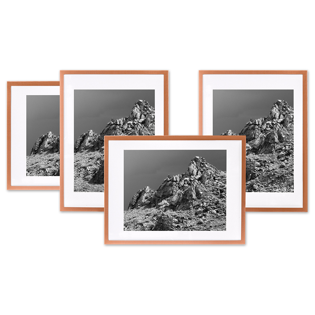 Koyal Wholesale Rose Gold Gallery Wall Frames With White Mats 8 X