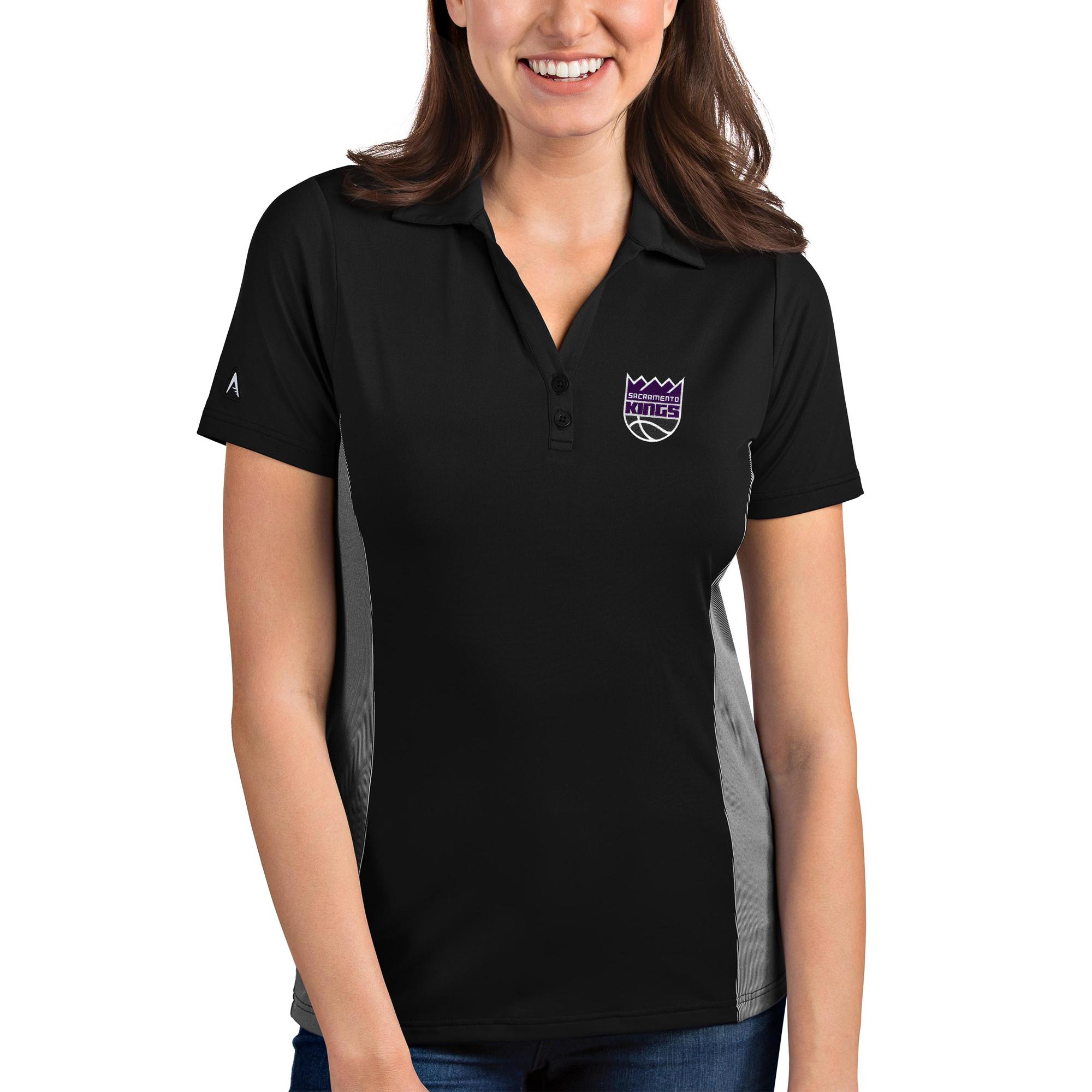 Sacramento Kings Antigua Women's Venture Polo - Black/White