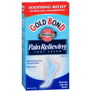 Gold Bond Pain Relieving Foot Cream 4 oz (Pack of 2)