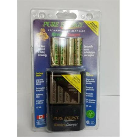 Rechargeable Alkaline Batteries >> Pure Energy Ec464 Enviro Charger Battery Charger With 4 Aa Pure Energy Rechargeable Alkaline Batteries