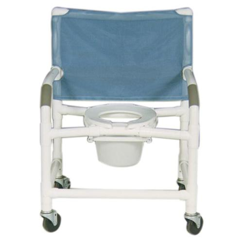 MJM International 126-4-NB Shower- Commode Chair