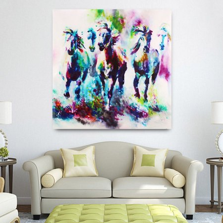 Modern Horse Picture Canvas Prints Oil Painting Wall Art Home Office Decor No Frame - image 3 de 5