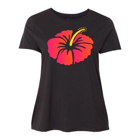 0699ede8b613 Inktastic - Hibiscus Flower Tropical Floral Women's Plus Size T-Shirt  Hawaiian My - Walmart.com