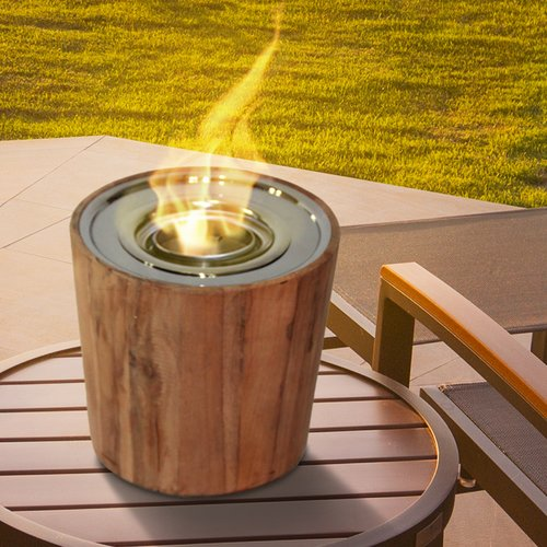 Anywhere Fireplace Sag Harbor Teak Gel Tabletop Fireplace