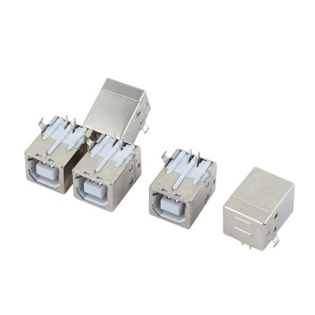 5pcs Right Angle 4 Pins USB Type B PCB Printer Female Connector Jack (10 Pin Mini Usb Female Socket Connector)