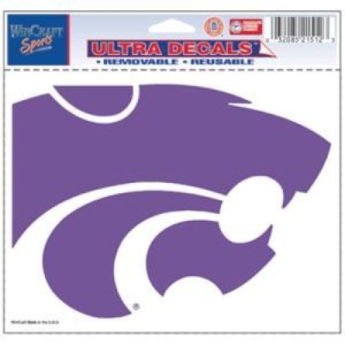 Team Colors One Size NCAA Kansas State Wildcats Decal3x12 Bumper Strip Decal