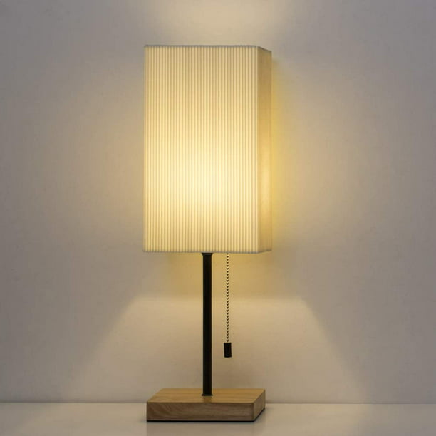 Bedside Table Lamp Square Nightstand, Table Lamp Square Shade