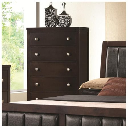 Coaster Company Carlton Collection 5 Drawer Chest, Cappuccino ()