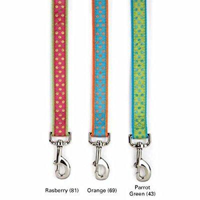 east side collection nylon polka dot dog leash, 6-feet x 1-inch lead, pink