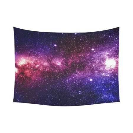 PHFZK Cosmos Cosmic Background Wall Art Home Decor, Colorful and Beautiful Universe Galaxyand Stars in Deep Space Tapestry Wall Hanging 60 X 80 Inches