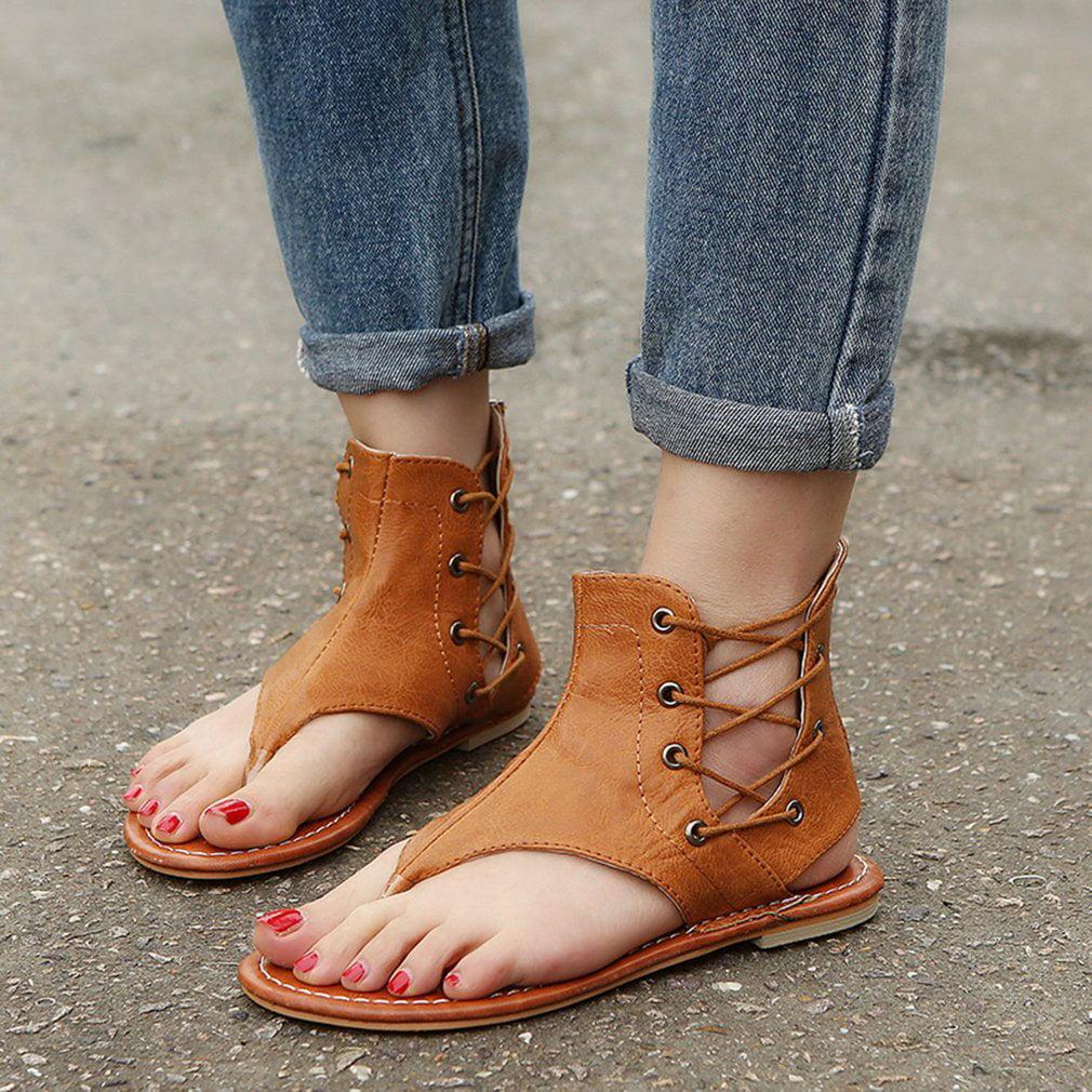 acf22508f3920 Bohemia Style Fashion Women Casual Sandals Soft Flat Shoes ...