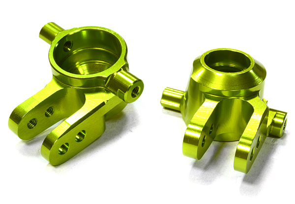 Integy RC Toy Model Hop-ups C26400GREEN Billet Machined Steering Knuckles for Traxxas 1 10... by Integy