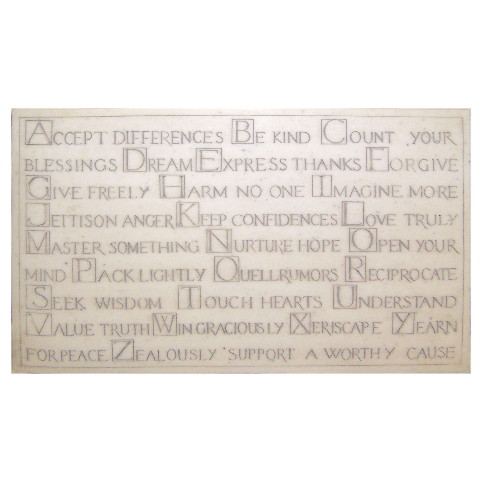 ABCs of Life Garden Wall Plaque