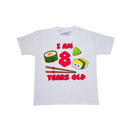 I Am 8 Years Old With Sushi Birthday Youth T Shirt