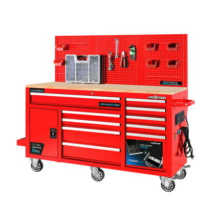 FRONTIER 62 inch Heavy Duty Mobile Work Station Tool Box Organizer
