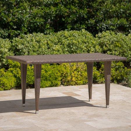 Dominica Outdoor Rectangular Wicker Dining Table
