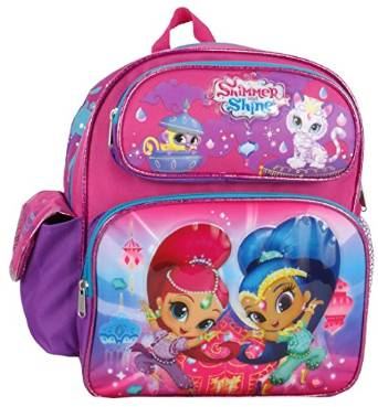 "Small Backpack - Shimmer and Shine - Pink 12"" School Bag New 680848"