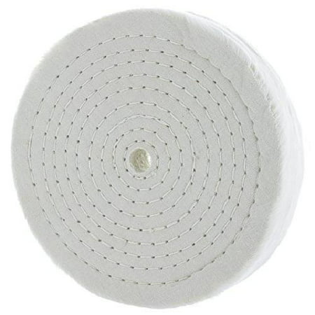 """80 Ply Rigid 8""""Extra Thick Cotton Treated Spiral Sewn Buffing/Polishing Wheel w/"""
