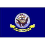 """Flagpole To Go 12"""" x 18"""" U.S. Navy Flag"""
