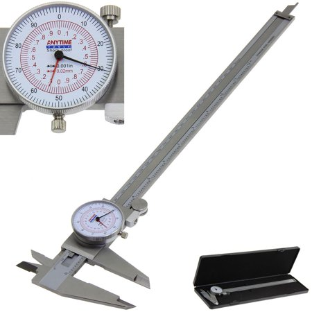 """Anytime Tools Dial Caliper 12"""" / 300mm DUAL Reading Scale METRIC SAE Standard INCH MM"""