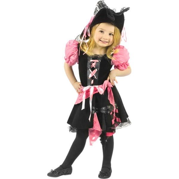 Toddler Pink Punk Pirate Costume by