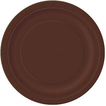 - Paper Plates, 7 in, Brown, 20ct