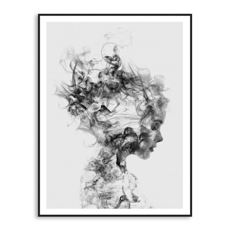 Moaere Abstract Black White Woman Canvas Print Art Painting Home Wall Decor Unframed