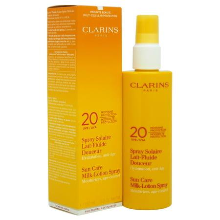 Clarins Sun Care Milk-Lotion Spray Moderate Protection UVA/UVB 20, 5.3 Oz