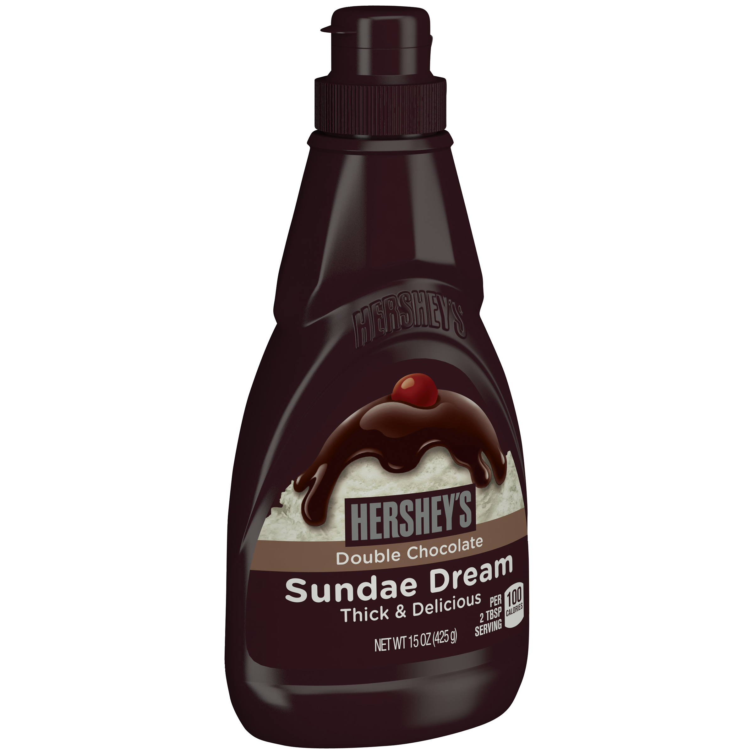 HERSHEY'S SUNDAE DREAM Double Chocolate Syrup, 15 oz