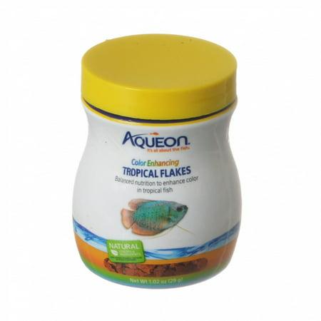Aqueon Color Enhancing Tropical Flakes Fish Food