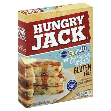 (2 Pack) Hungry Jack Gluten Free Buttermilk Pancake & Waffle Mix with Funfetti Candy Bits, 20-Ounce