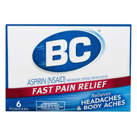 Bc Headaches   Body Aches Aspirin Powders   6 Ct
