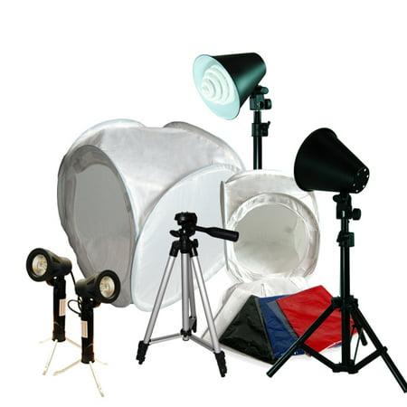 Loadstone Studio Table Top Photo Photography Studio Lighting Light Tent Kit in a Box - 12