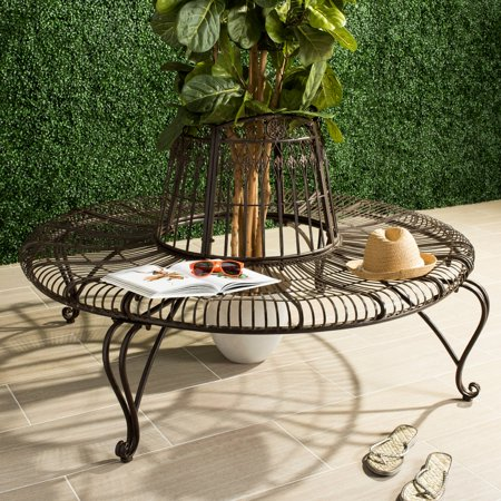 Ally Darling Indoor/Outdoor Wrought Iron Rustic Tree Bench ()