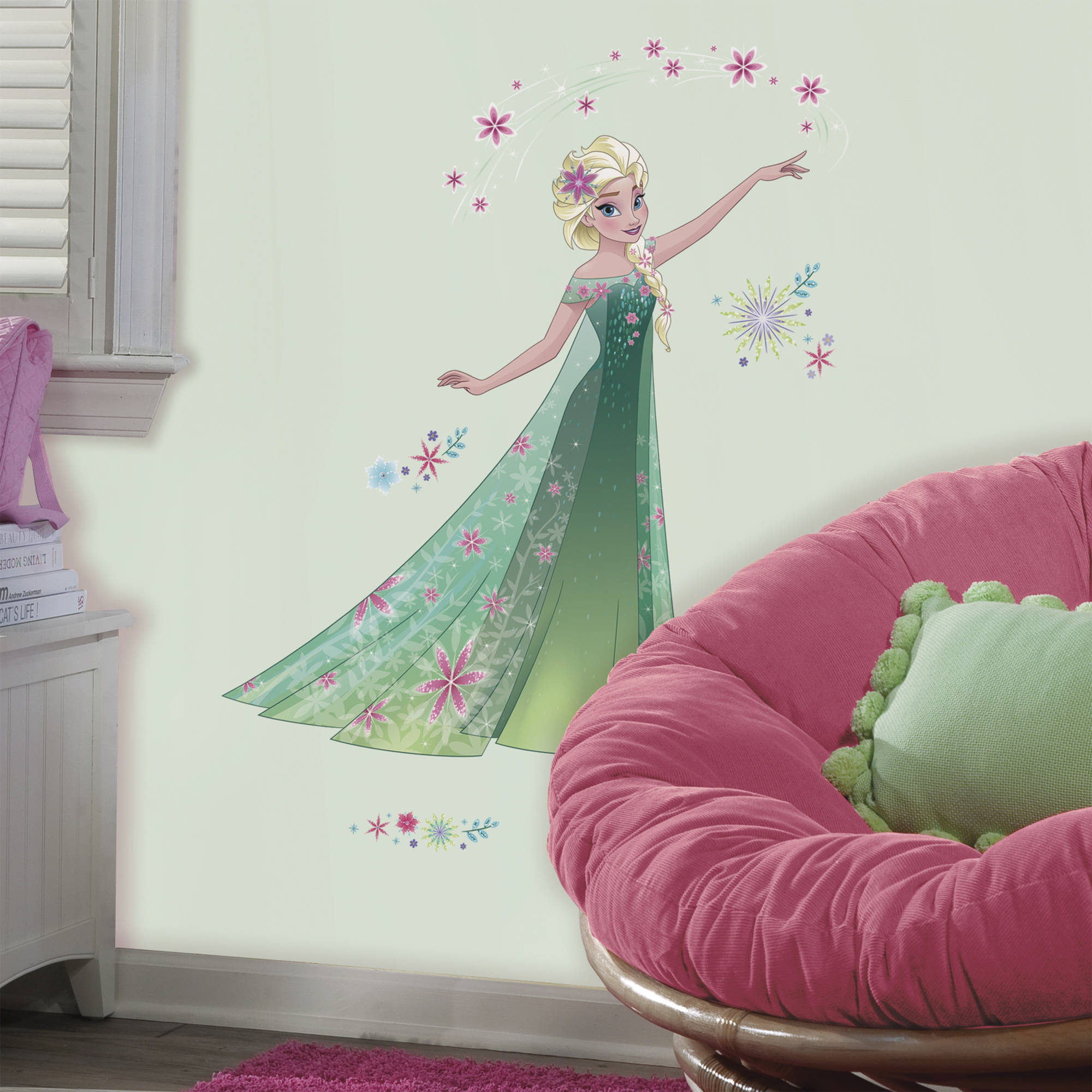 Superbe Disney Frozen Fever Elsa Peel And Stick Giant Wall Decals