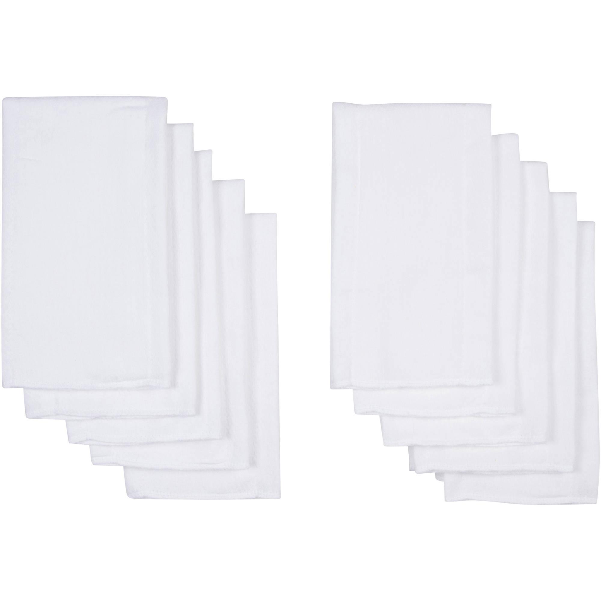 Gerber Prefold White Birdseye Cloth Diaper - 10 Pack