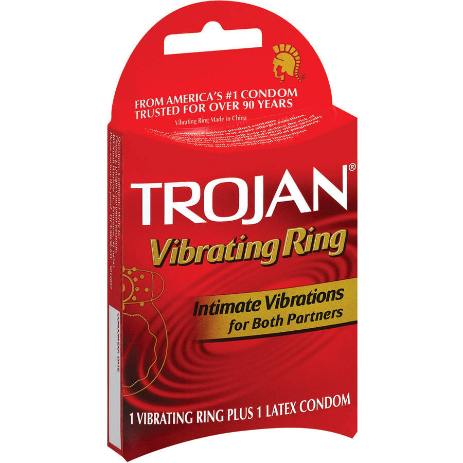 Trojan Vibrating Ring Plus Latex Condom