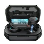 Wireless Earbuds Bluetooth 5.0 Headphones IPX7 Waterproof TWS Deep Bass Stereo Noise Cancelling Headset in Ear W/ 140H Playtime Mic USB-C Charging Case LED Battery Display for Sport Android/iOS