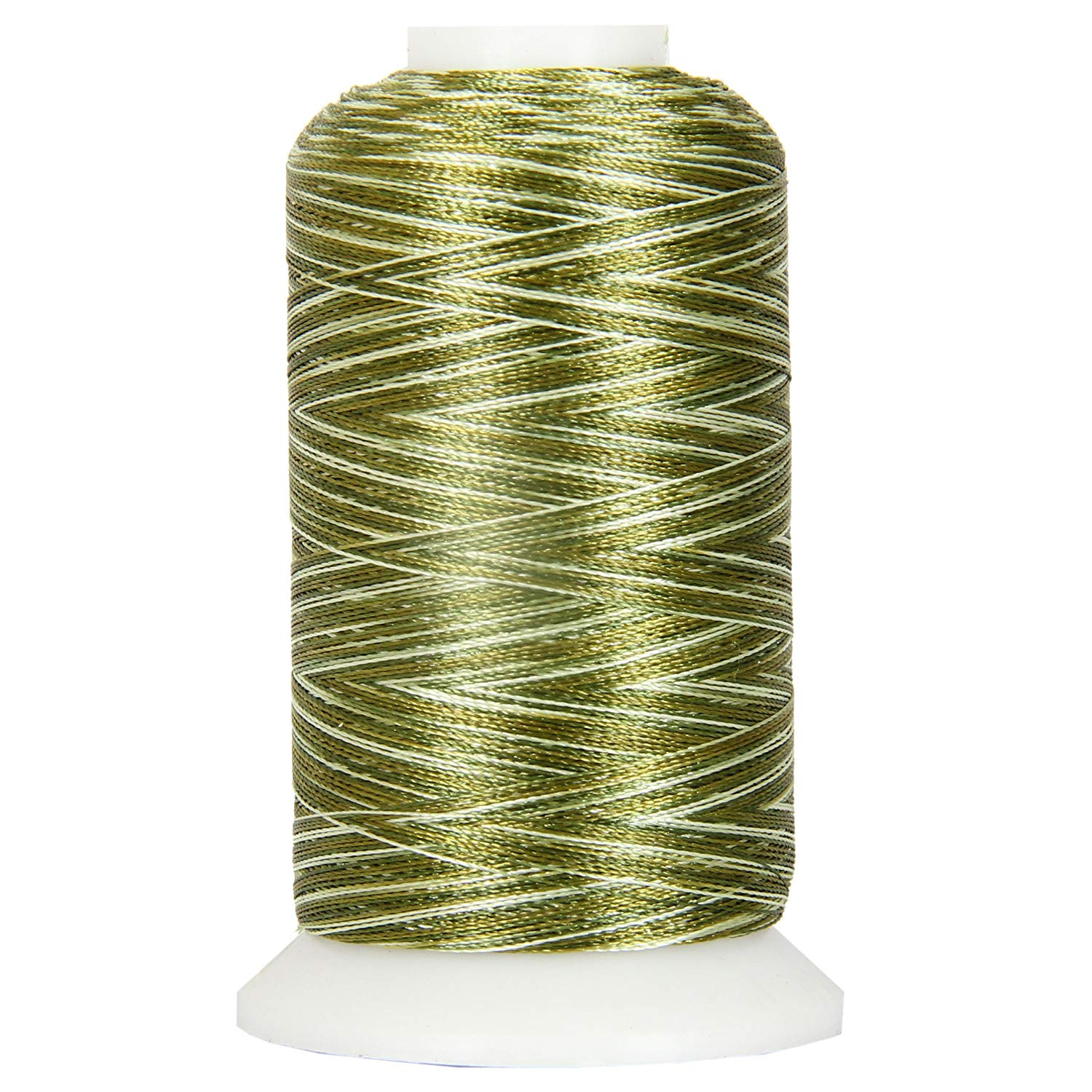 Threadart Variegated Polyester Embroidery Thread - 40wt - 1000m - 25 Colors Available - No. 2 - Patriotic