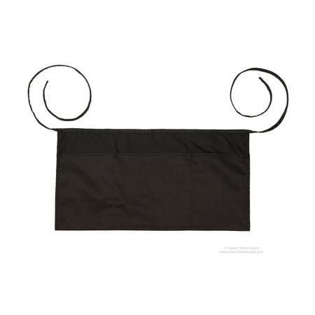 3-Pocket Black Waiter Waist Apron - 2-Pack