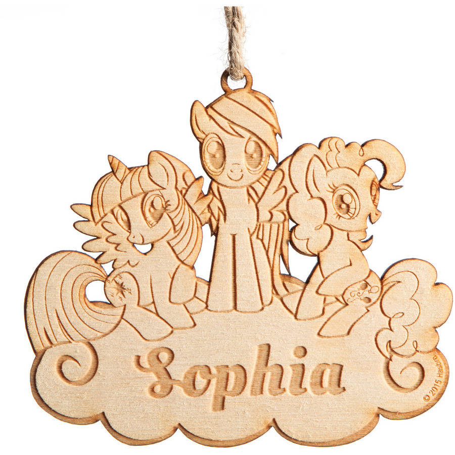 Personalized My Little Pony Wood Ornament